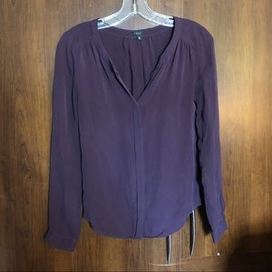 T. Babaton Aritzia Purple Blouse Size XXS